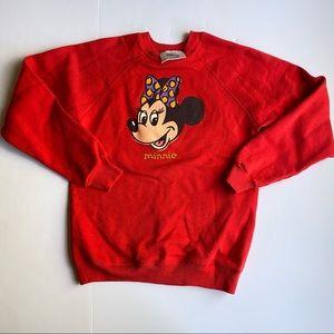 Disney Store Vintage Minnie Mouse Sweatshirt Red L